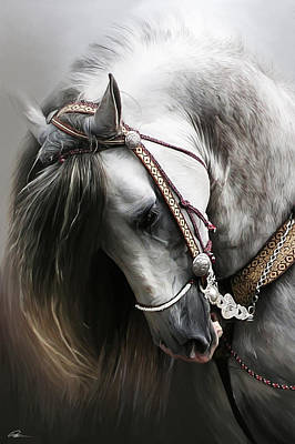 Horses Digital Art - Pura Spanish Elegance by Paul Miners