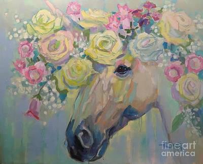 Unicorn Painting - Purity by Kimberly Santini