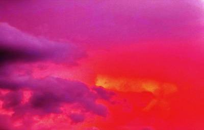Purple And Pink Sky Print by Peggy Leyva Conley