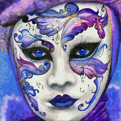 Porcelain Painting - Purple Carnival by Leonardo Digenio