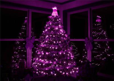Purple Christmas Print by Lori Deiter