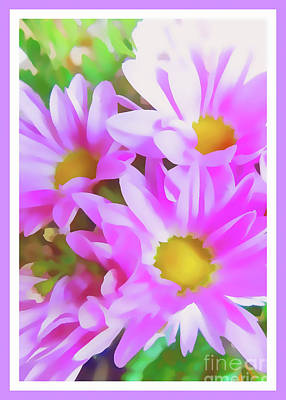 Purple Daisy Poster Print by Susan Lafleur