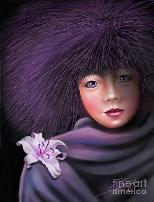 Woman Painting - Purple Delight by Susi Galloway