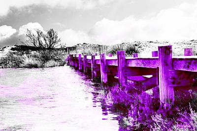 Purple Escapade Print by Kris Woo