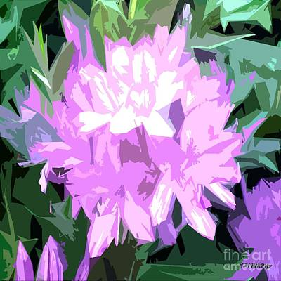 Nature Abstract Mixed Media - Purple Fades To Lilac by Patrick J Murphy