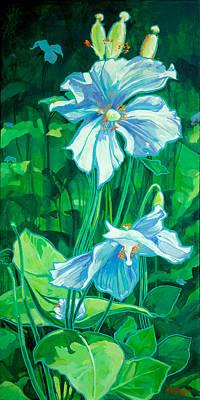 Purple Flower 2 Original by Derrick Higgins