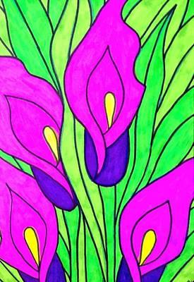 Purple Flowers Print by Alesya Cabral