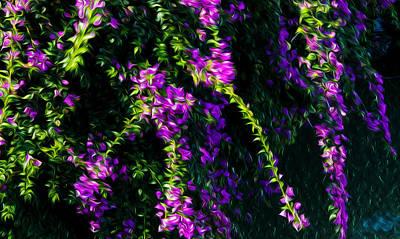 Purple Flowers Print by Nhi Ho Thi Xuan