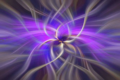 Purple Gold Colored Abstract. Concept Spirituality Print by Jenny Rainbow
