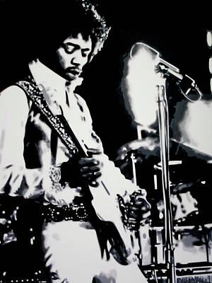Jimmy Hendrix Painting - Purple Haze by Luis Ludzska