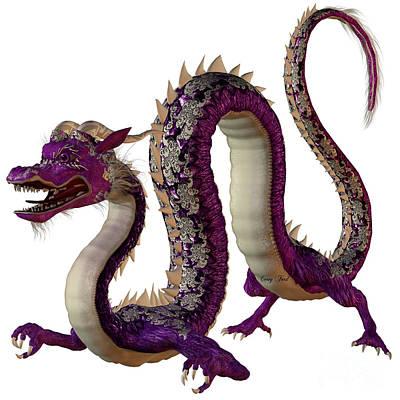 Purple Jewel Dragon Print by Corey Ford