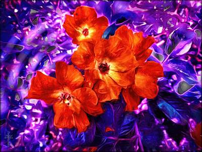 Vivid Colors Photograph - Purple Leaves And Red Roses  by Daniel Arrhakis