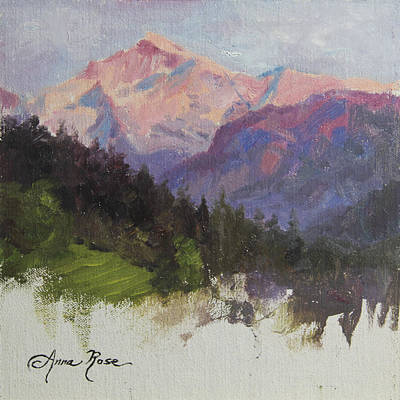 Swiss Painting - Purple Majesty Plein Air Study by Anna Rose Bain