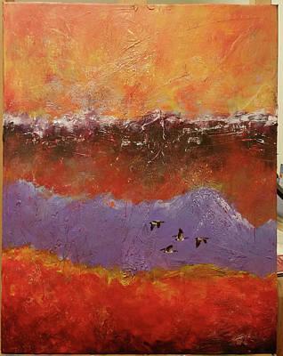 Painting - Purple Mountain Flight by David Maynard