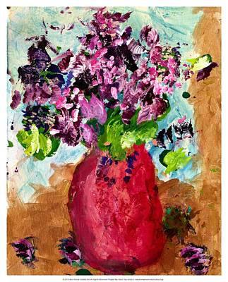 Purple My Lilacs Print by Empowered Creative Fine Art