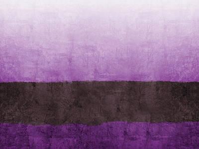 Purple On The Horizon- Art By Linda Woods Print by Linda Woods