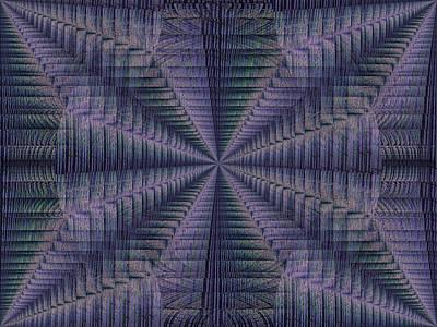 Pathway Digital Art - Purple Pathway by Tim Allen