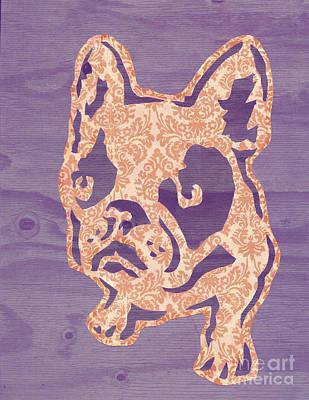 Purple Puppy Original by Barbara  Campbell