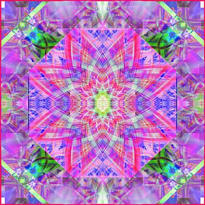 Purple Quilt Block Print by Mary H Sesniak