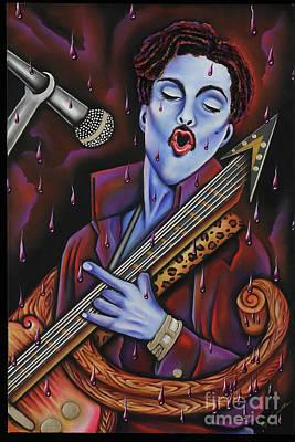 Purple Reign Print by Nannette Harris