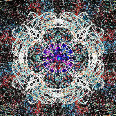 Mandala Painting - Purple Spider House by John Groves