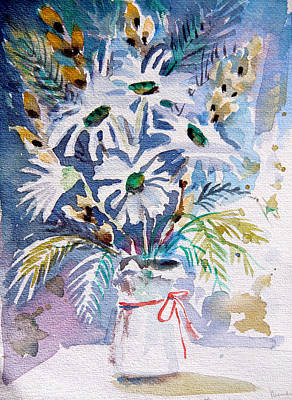 Pussy Willow And Daisies Original by Mindy Newman