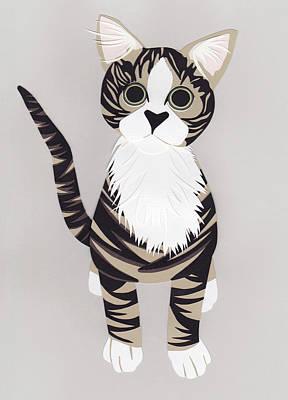 Pussycat Print by Isobel Barber