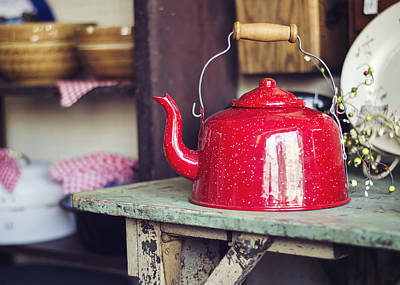 Put The Kettle On Print by Heather Applegate
