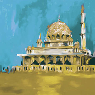 Dome Painting - Putra Mosque 412 II by Mawra Tahreem