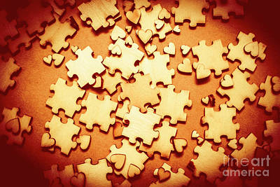 Puzzle Of Love Print by Jorgo Photography - Wall Art Gallery