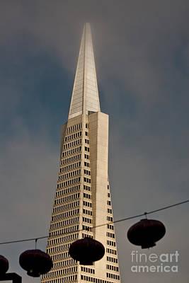 Pyramid Building San Francisco With Incoming Fog Print by Mark Hendrickson
