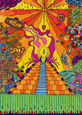 Pyramid Print by Evan Purcell