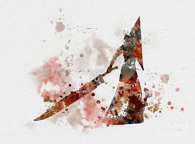 Horror Mixed Media - Pyramid Head by Rebecca Jenkins
