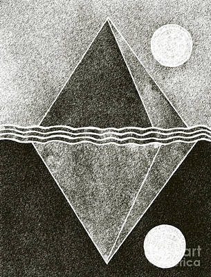 Appleton Drawing - Pyramid Space And Time by Norma Appleton