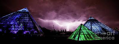 Prairie Storm Photograph - Pyramid Storm by Ian MacDonald