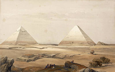 David Roberts Drawing - Pyramids Of Gizeh by David Roberts