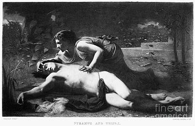 Pyramus And Thisbe Print by Granger