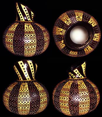 Pirogravura Pyrography - Pyro Gourd 6 by Dino Muradian