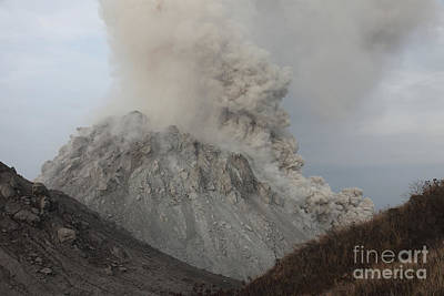 Pyroclastic Flow Descending Flank Print by Richard Roscoe