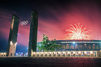 Architecture Photograph - Pyronale Berlin - Olympic Stadium by Alexander Voss