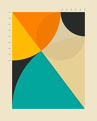Modern Abstract Art Digital Art - Pythagorean Triad 14 by Jazzberry Blue