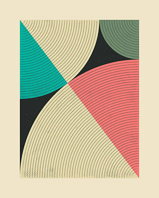 Modern Abstract Art Digital Art - Pythagorean Triad 17 by Jazzberry Blue