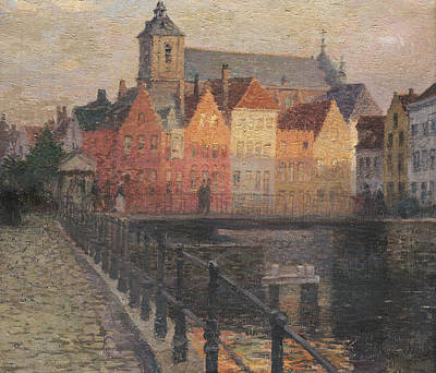 Cobbles Painting - Quai De La Paille by Paul Albert Steck
