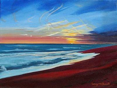 Quansoo Painting - Quansoo Sunset by Lanny Mc Dowell