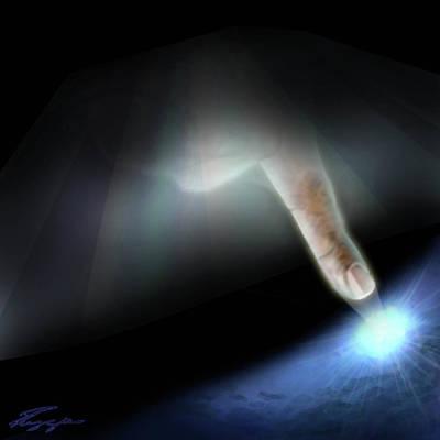 The Beginning Painting - Quantum Mechanics by Reggie Duffie