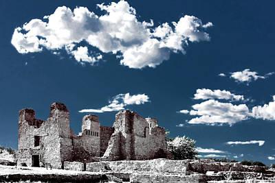 Quarai New Mexico - Infrared False Color Print by Christine Till