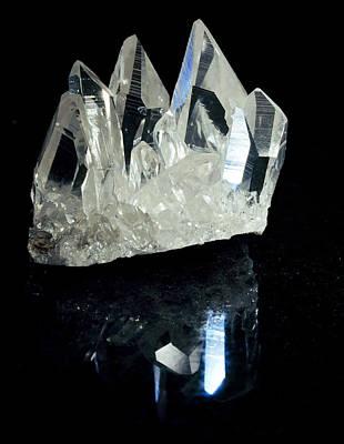 Semi Precious Stone Photograph - Quartz Crystals by Dirk Wiersma