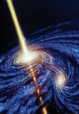 Astronomy Painting - Quasar-b by Don Dixon