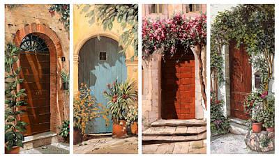Quattro Porte Print by Guido Borelli