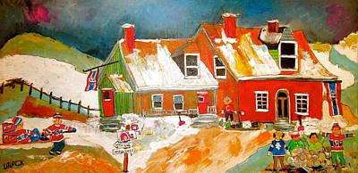 Litvack Painting - Quebec Hockey Nation by Michael Litvack